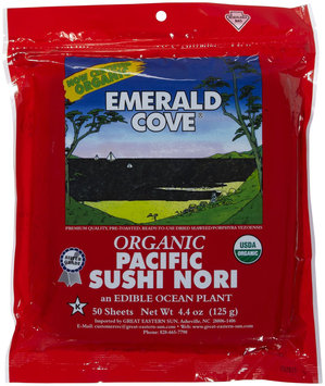 Emerald Cove Silver Grade Organic Pacific Sushi Nori, 50 ct