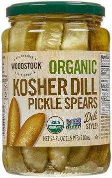 Woodstock Farms Organic Kosher Dill Pickle Spears 24 fl oz