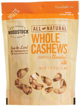 Woodstock Farms Cashews Whl Xlg #240 R/Ns 6 Oz -Pack of 8