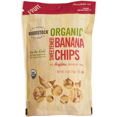 Woodstock Farms Organic Banana Chips, Sweetened