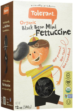 Tolerant Food Organic Black Bean Mini Fettuccine 12 oz - Vegan