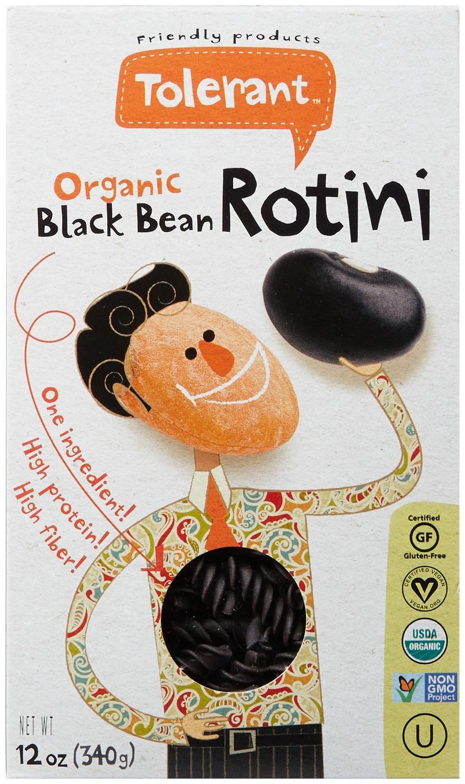 Tolerant Food Organic Black Bean Rotini - 12 oz - Vegan