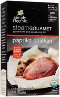 Simply Organic Steam Gourmet Parchment & Seasoning Kit Paprika Chicken 2 oz