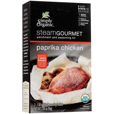 Simply Organic Steam Gourmet Parchment & Seasoning Kit Paprika Chicken 2 oz