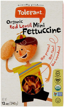 Tolerant Food Organic Red Lentil Mini Fettuccine - 12 oz - Vegan