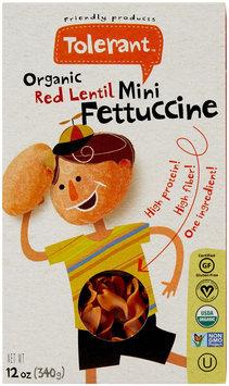 Tolerant Food Organic Red Lentil Mini Fettuccine - 12 oz - Vegan