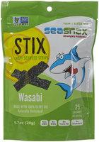 SeaSnax Stix Crispy Seaweed Strips Wasabi 0.7 oz - Vegan