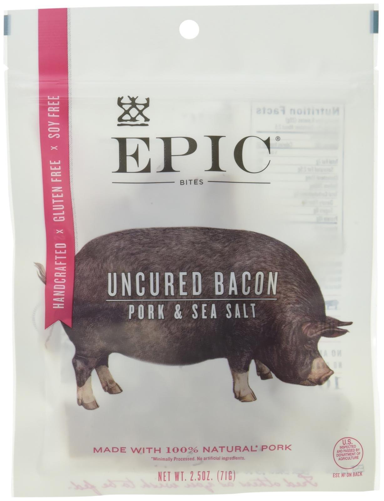 Epic Nutrition Uncured Bacon Jerky Bites 2.5 oz