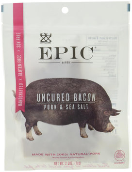 Epic Nutrition Uncured Bacon Jerky Bites 2.5 oz