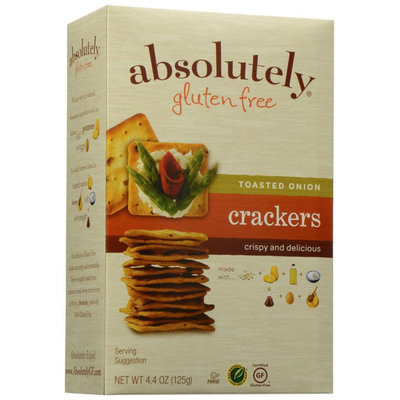 Absolutely Gluten Free Crackers Toasted Onion - 4.4 oz