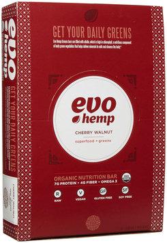 Evo Hemp - Organic Nutrition Raw Greens Bar Cherry Walnut - 12 Bars