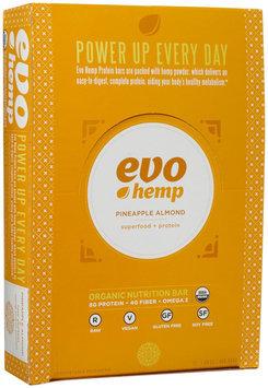 Evo Hemp - Organic Nutrition Raw Protein Bar Pineapple Almond - 12 Bars