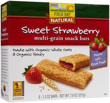 Field Day Cereal Bar Og3 Straw Fll 7.8 OZ (Pack of 6)