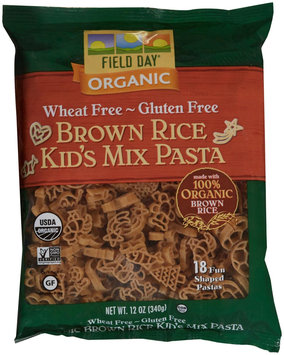 Field Day Pasta Organic Kids Mix Brown Ric 12 Oz. -Pack of 12