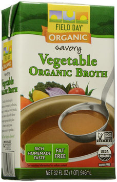 Field Day Broth 95% organic Vegetable 32 Oz -Pack of 12