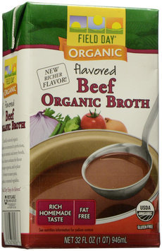 Field Day Broth 95 percent organic Beef 32 Oz - Pack of 12 - SPu1150903