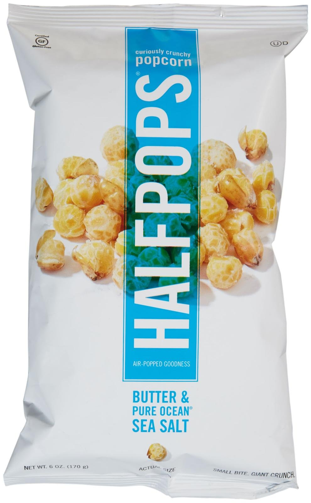 Halfpops Popcorn Butter & Pure Ocean Sea Salt 6 oz