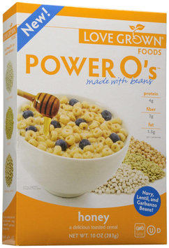 Love Grown Foods Power O's Cereal Honey 10 oz