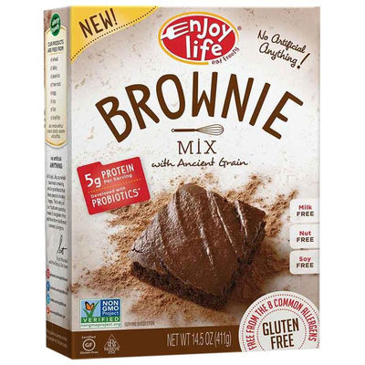 Enjoy Life BAKING MIX, BROWNIE, GF, (Pack of 6)