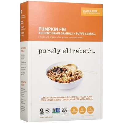 Purely Elizabeth - Organic Ancient Granola Cereal and Puffs Pumpkin Fig - 8 oz.