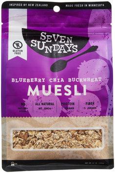 Seven Sundays MUESLI, BLUBRY CHIA BCKWHT, (Pack of 6)