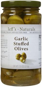 Jeffs Naturals Jeff's Naturals Garlic Stuffed Olives - 7.5 oz - Vegan