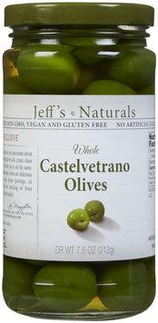 Jeffs Naturals Jeff's Naturals Whole Castelvetrano Olives - 7.2 oz - Vegan