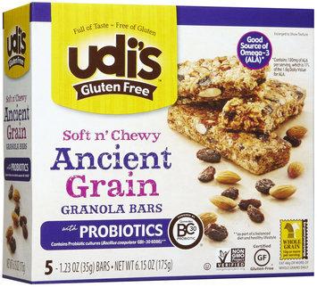 Udis UDI's Gluten Free Ancient Grain Granola Bars - 5 Bars