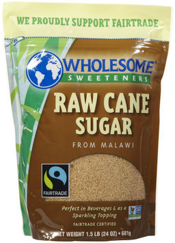 Wholesome Sweeteners Fair Trade Raw Cane Sugar - 24 oz