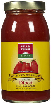KeHe Distributors 81977 BELLA TERRA TOMATO PLUM ITAL DICED - Pack of 6 - 24 OZ