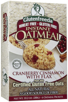 Glutenfreeda Instant Oatmeal with Flax Cranberry Cinnamon - 6 Packets