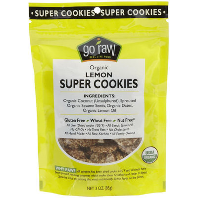 Go Raw Organic Lemon Cookies, 3 oz