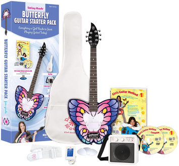 Daisy Rock Butterfly Electric Short Scale Starter Pack