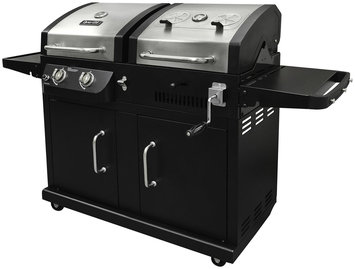 Dyna-Glo 2-Burner Gas and Charcoal BBQ Grill