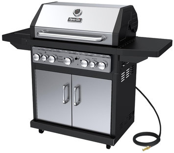 Dyna-glo Grill. 5-Burner Natural Gas Grill with Side Burner and Rotisserie Burner