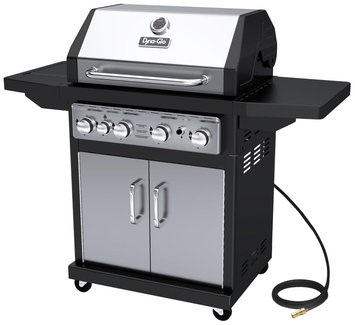 Dyna-glo Grill. 4-Burner Natural Gas Grill with Side Burner