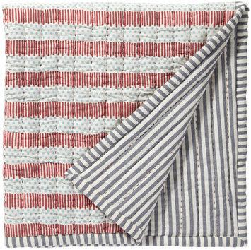 Pehr Designs Quilted Nursery Blanket Blue/Red