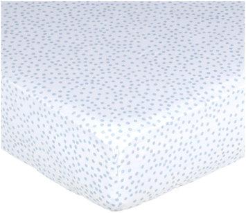 Petit Pehr Blue Dot Crib Sheet