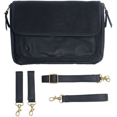 SoYoung Diaper Clutch in Waxed Canvas - Black - 1 ct.