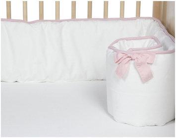 New Arrivals Inc. New Arrivals Stella Gray Crib Bumper, White & Pink