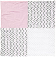 New Arrivals Inc. New Arrivals Peace, Love & Pink Crib Blanket, Pink & Gray - 1 ct.