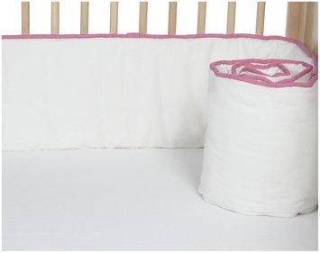 New Arrivals Inc. New Arrivals Urban Ikat In Fuschia Crib Bumper, Pink & White