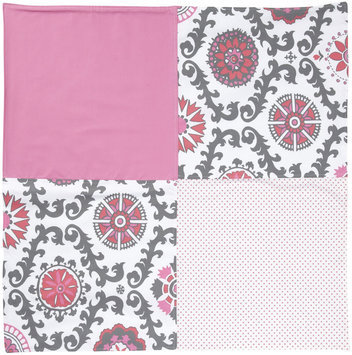 New Arrivals Inc. New Arrivals Ragamuffin In Pink Crib Blanket, Hot Pink & Gray - 1 ct.