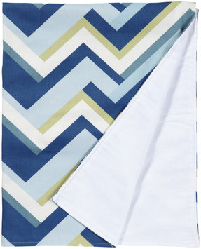 New Arrivals Inc. New Arrivals Clubhouse Crib Blanket, Dark Blue & White - 1 ct.