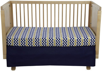 New Arrivals Inc. New Arrivals Inc Sweet and Simple Golden Days 2 Pc Crib Set - Navy
