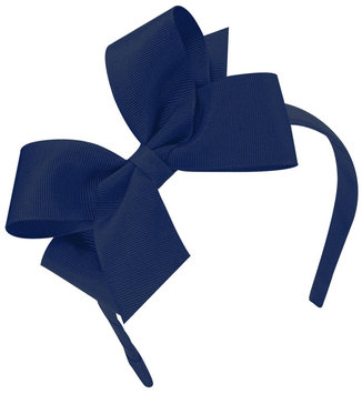 Wee Ones Medium Classic Grosgrain Bow-Light Navy - 1 ct.