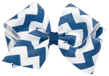Wee Ones Medium WeeSparkle Bow-Electric Blue