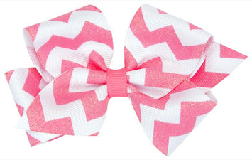 Wee Ones Medium WeeSparkle Bow-Shocking Pink - 1 ct.