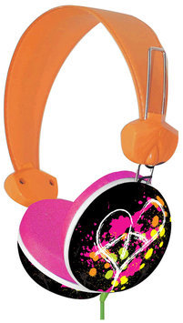 Pink Cookie Overhead Stereo Headphones - Pink