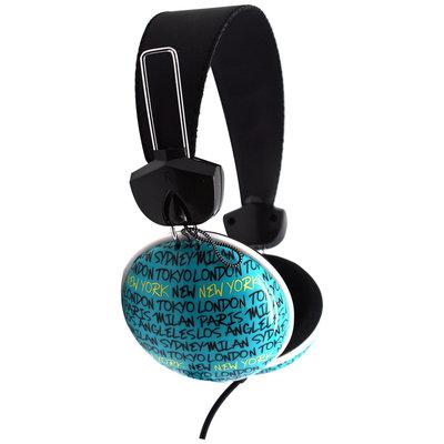 Pink Cookie Overhead Stereo Headphones - Cities